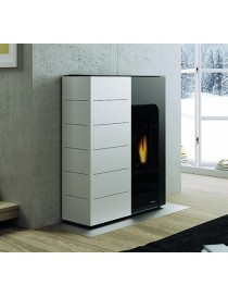 PELLET COOKERS GINGER 12 Save space 12kw PAINTED STEEL White Palazzetti
