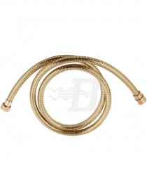 SHOWER FLEXIBLE  IN PVC GOLD  WITH CONICAL ATTACK  LINE  150MM